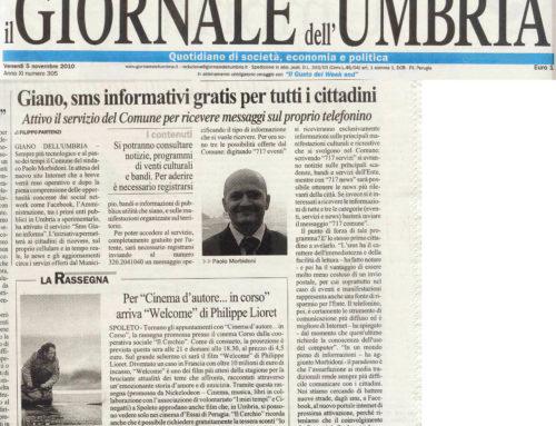 Giornale dell'Umbria: Giano: sms informativi gratis per tutti i cittadini