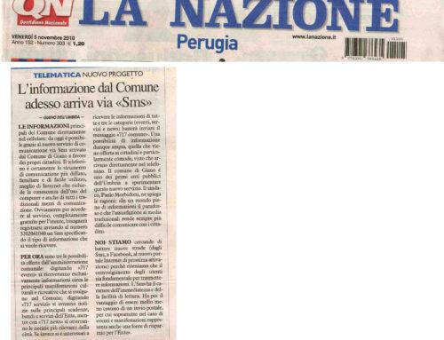5/11/10 : La Nazione Perugia – L'informazione dal Comune adesso arriva via SMS