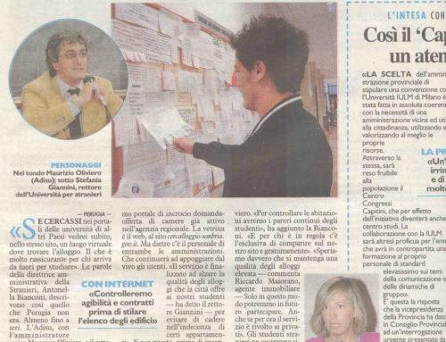 18/2/2010 – La Nazione Umbria: Diamo Stanze dignitose agli studenti
