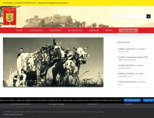 Sito web  Università Agraria Montecchio